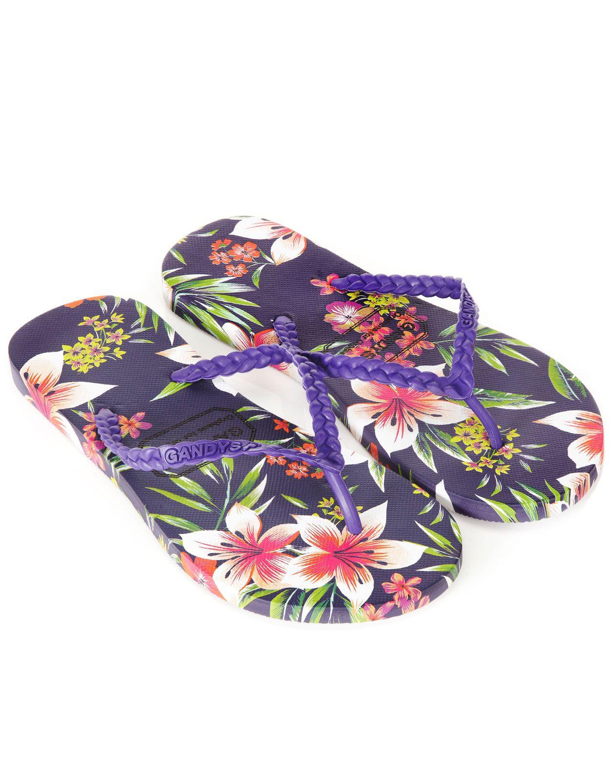 6e446c4c5e8720 Hawaiian Flower Gandys Flip Flops