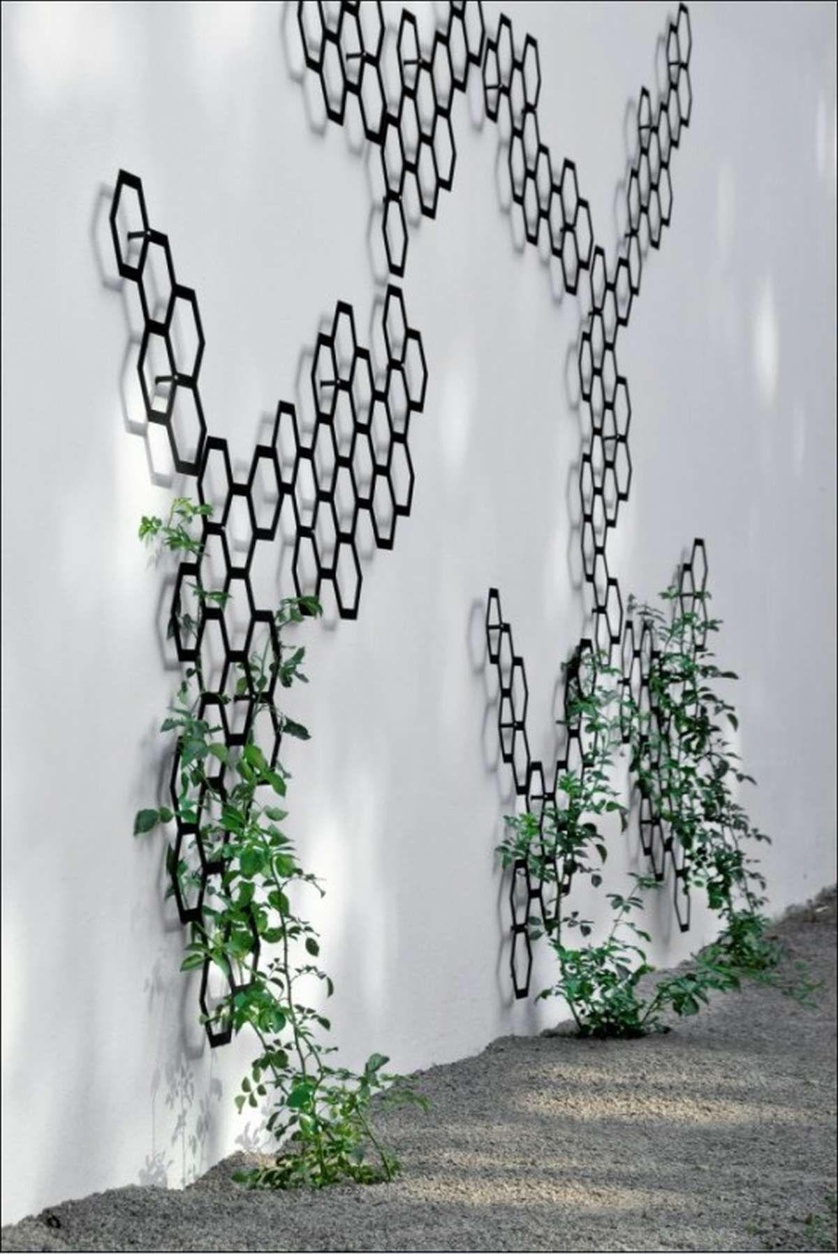 Wall Trellis Ideas Part - 48: Decorative Honeycomb Trellis / But Have Honeycomb Pattern On Roof