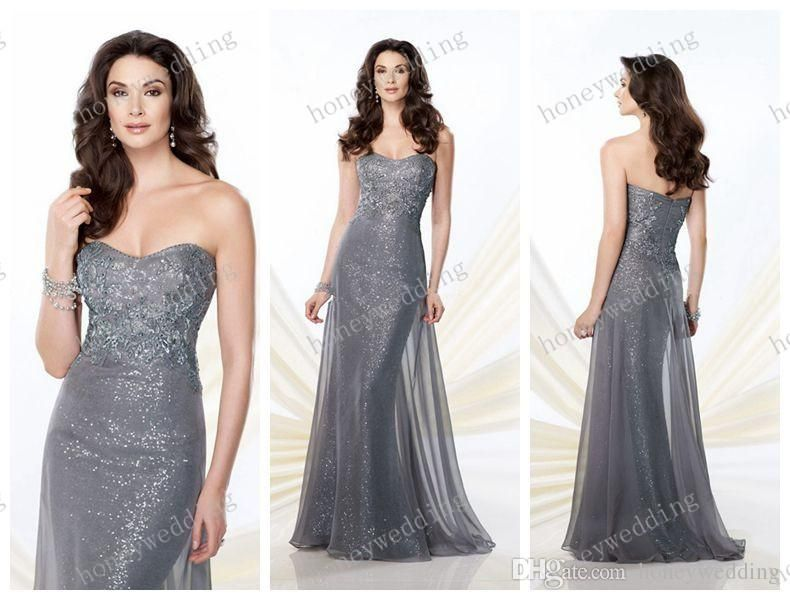 Chiffon Sequins 2014 Fall Mother Dresses Wedding Party Strapless Of The Bride Evening Dress Gowns