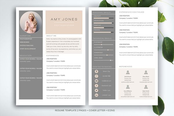 Resume Template For Ms Word Template Design Resume And Resume Ideas