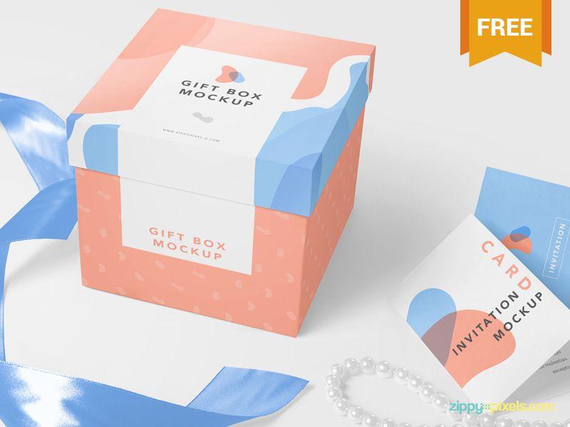 Download Free Luxury Gift Mockup Box Mockup Packaging Mockup Free Packaging Mockup