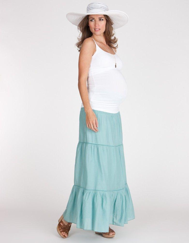 light blue maxi skirt seraphine getaway