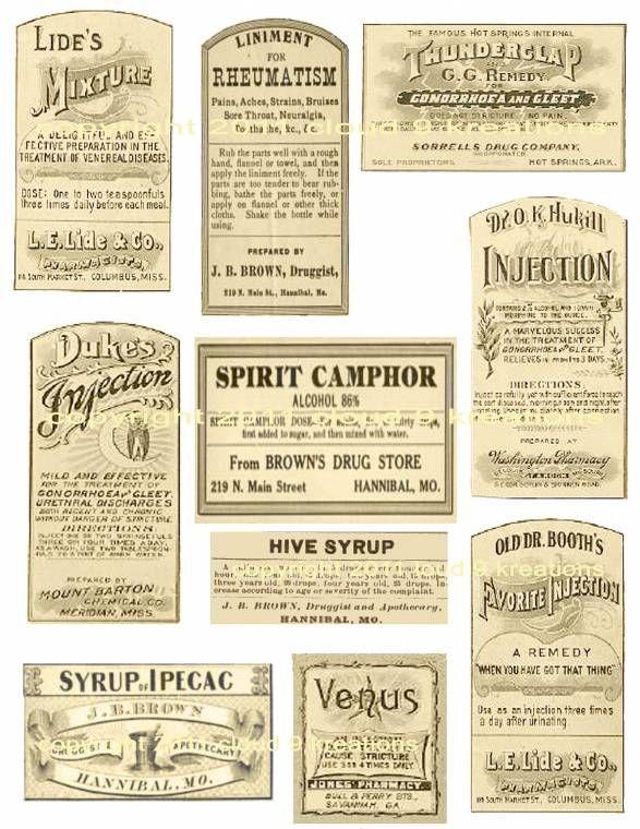 Antique Medicine Labels Digital Collage Sheet-medicineu2026 Vintage - sample cricket score sheet