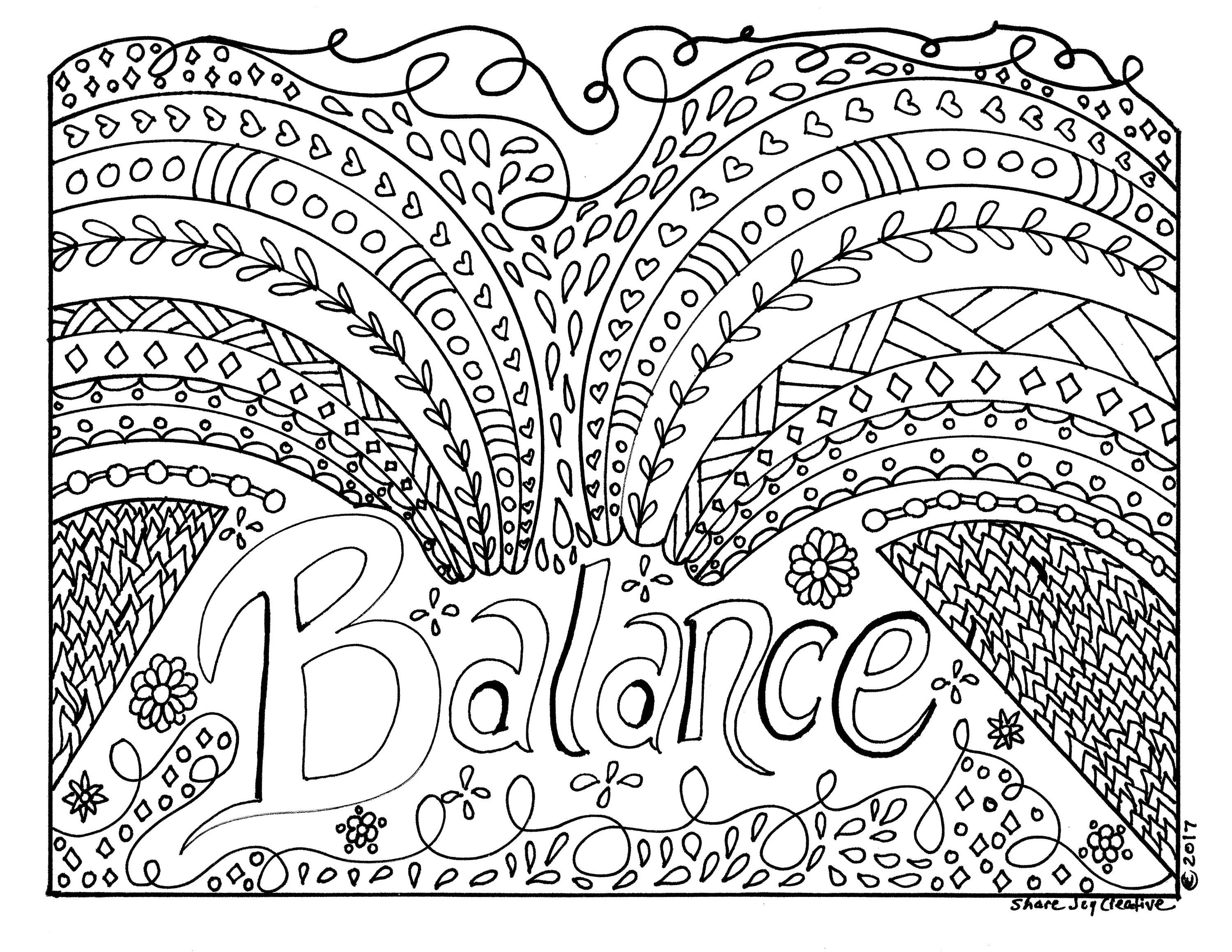 Balance Coloring Page Coloring Pages Color Coloring Books