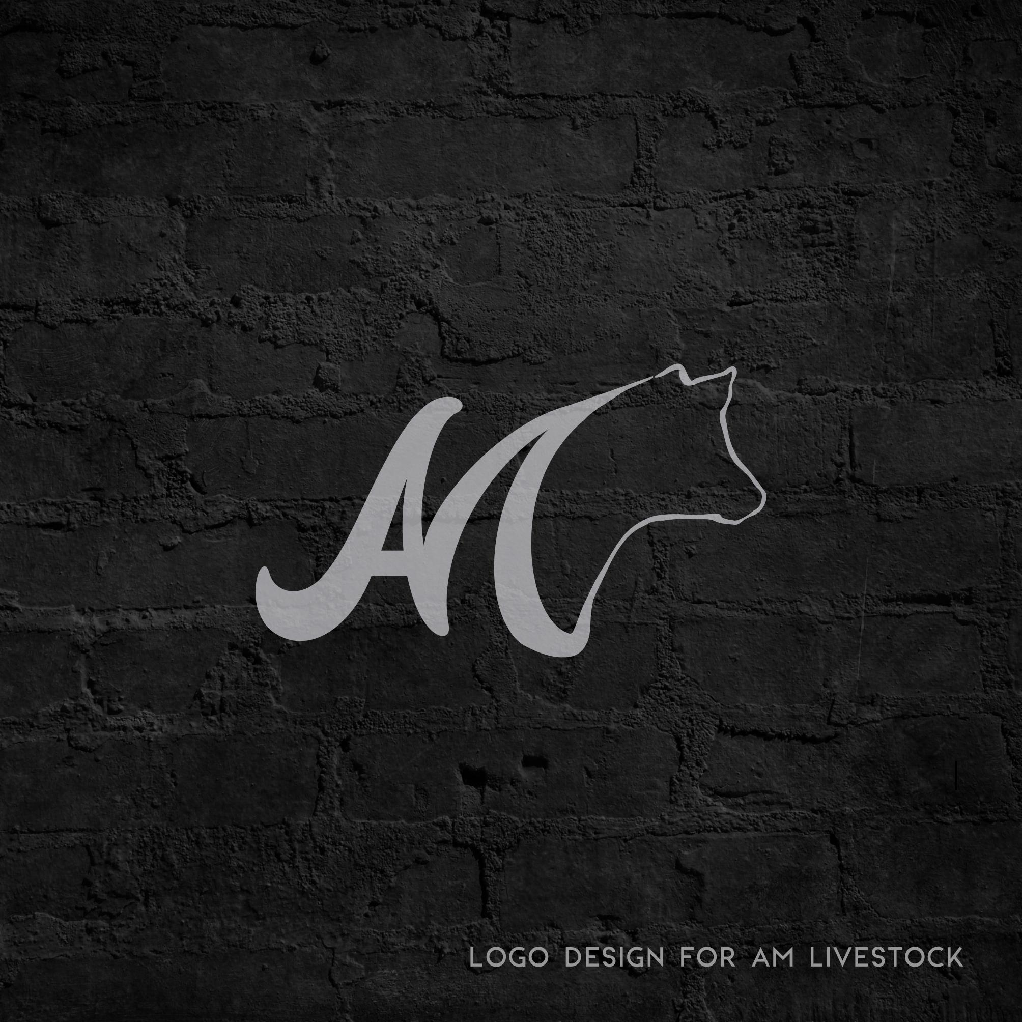 AM Livestock Logo Design by Leigh Meisenheimer