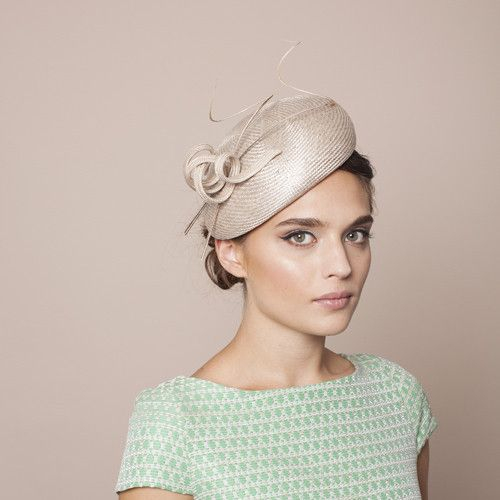 Gina Foster Millinery - Sanremo - Beret Hat with Feather & Ribbon Trim