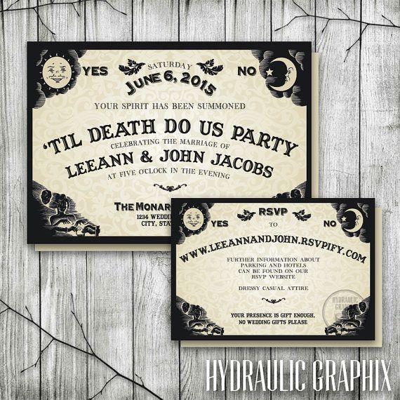 Spooktacular Halloween Wedding Invitations | Halloween wedding ...