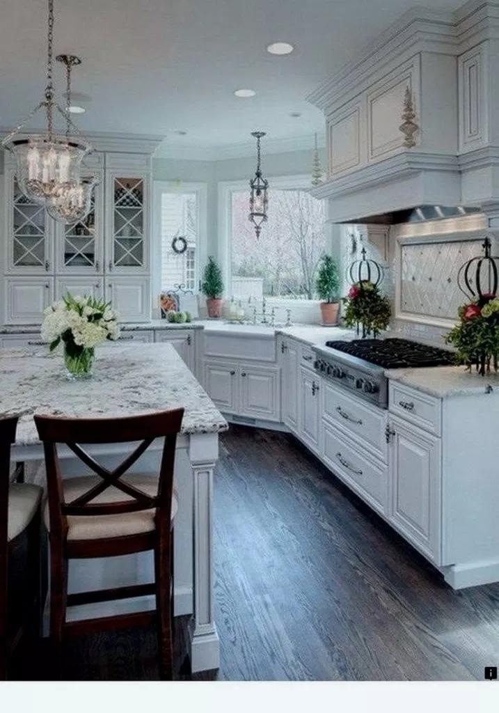 многие нас, красивая белая кухня фото показали