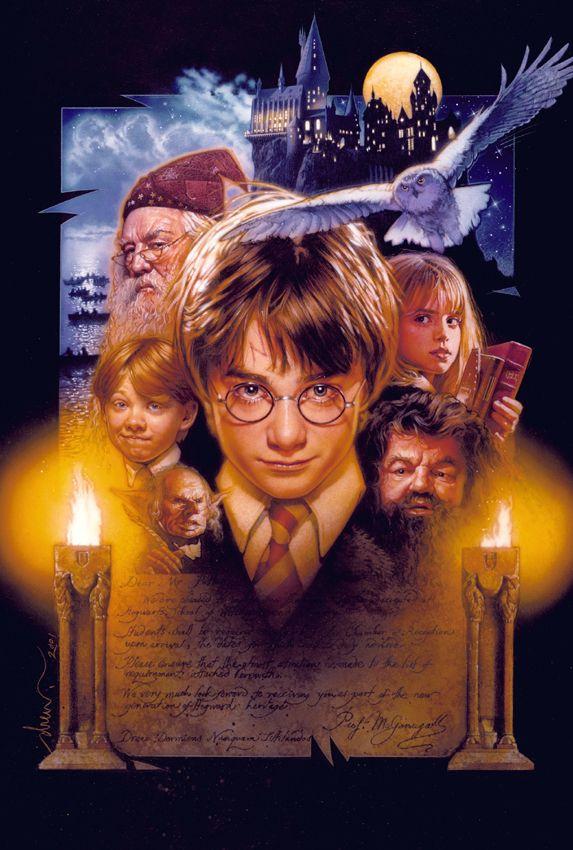 Drew Struzan Harry Potter And The Sorcerer S Stone First Harry Potter Movie Harry Potter Movies Harry Potter Film