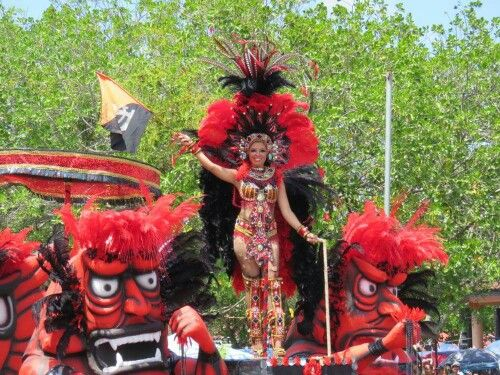 Carnavales Panamá 2015 Alegoria de Diablos.