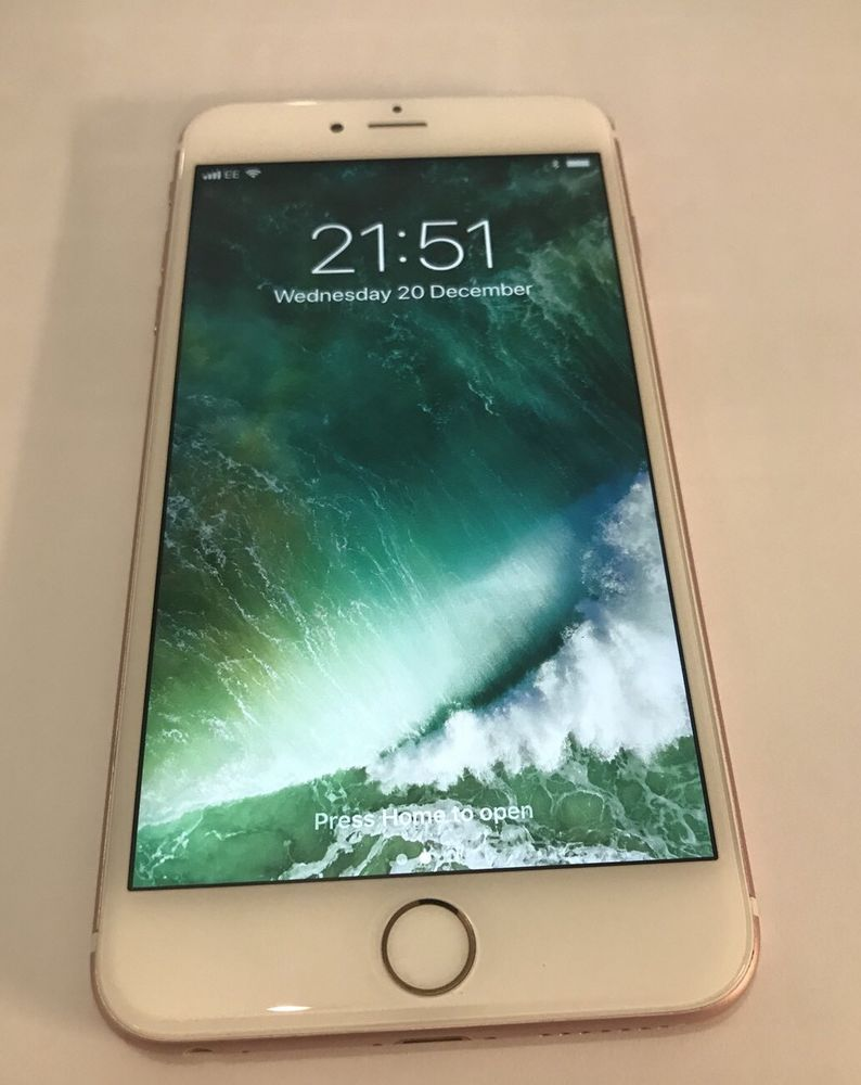 Apple Iphone 6s Plus 64gb Rose Gold Ee Cell Phones Very Good