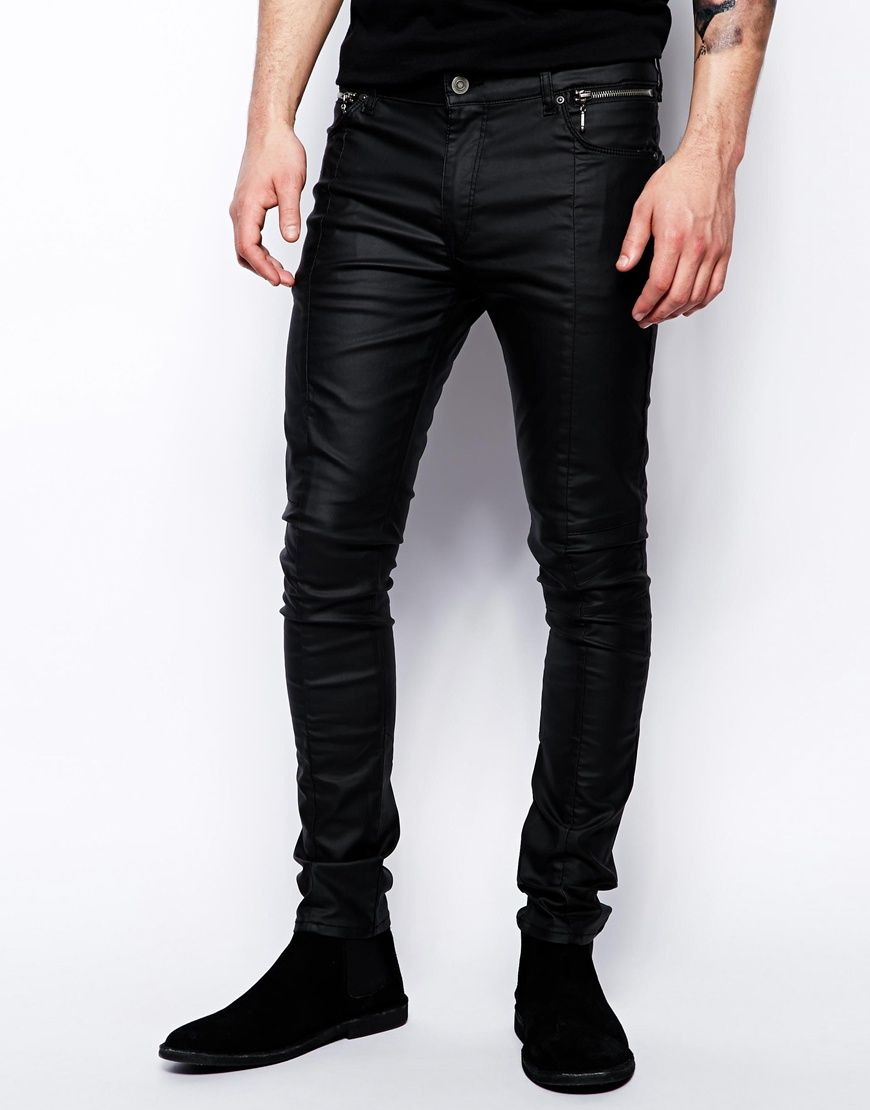 d46fcb90fd3992 Super Skinny Jeans In Leather Look in 2019 | My Style - Casual ...