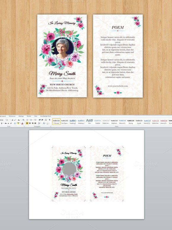 Funeral Prayer Card TemplateV Creative Card Templates - Funeral prayer cards templates