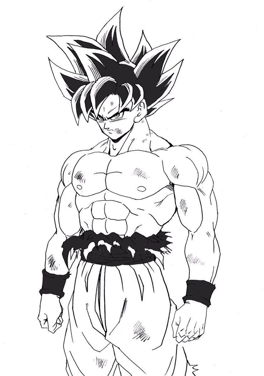 Diviertete Con Estos Dibujos Para Colorear A Goku Ultra Instinto