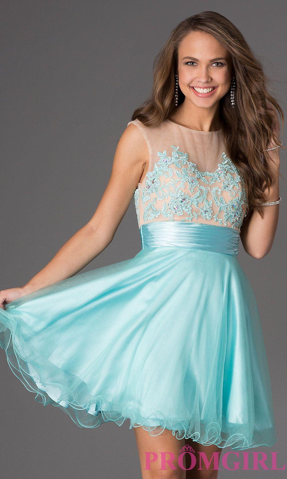 Short sleeveless prom dress with lace bodice – Dress ideas