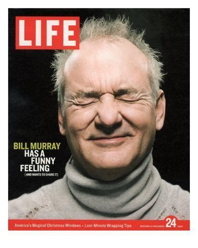 'Actor Bill Murray with Eyes Closed, December 24, 2004' Premium Photographic Print - Karina Taira   Art.com