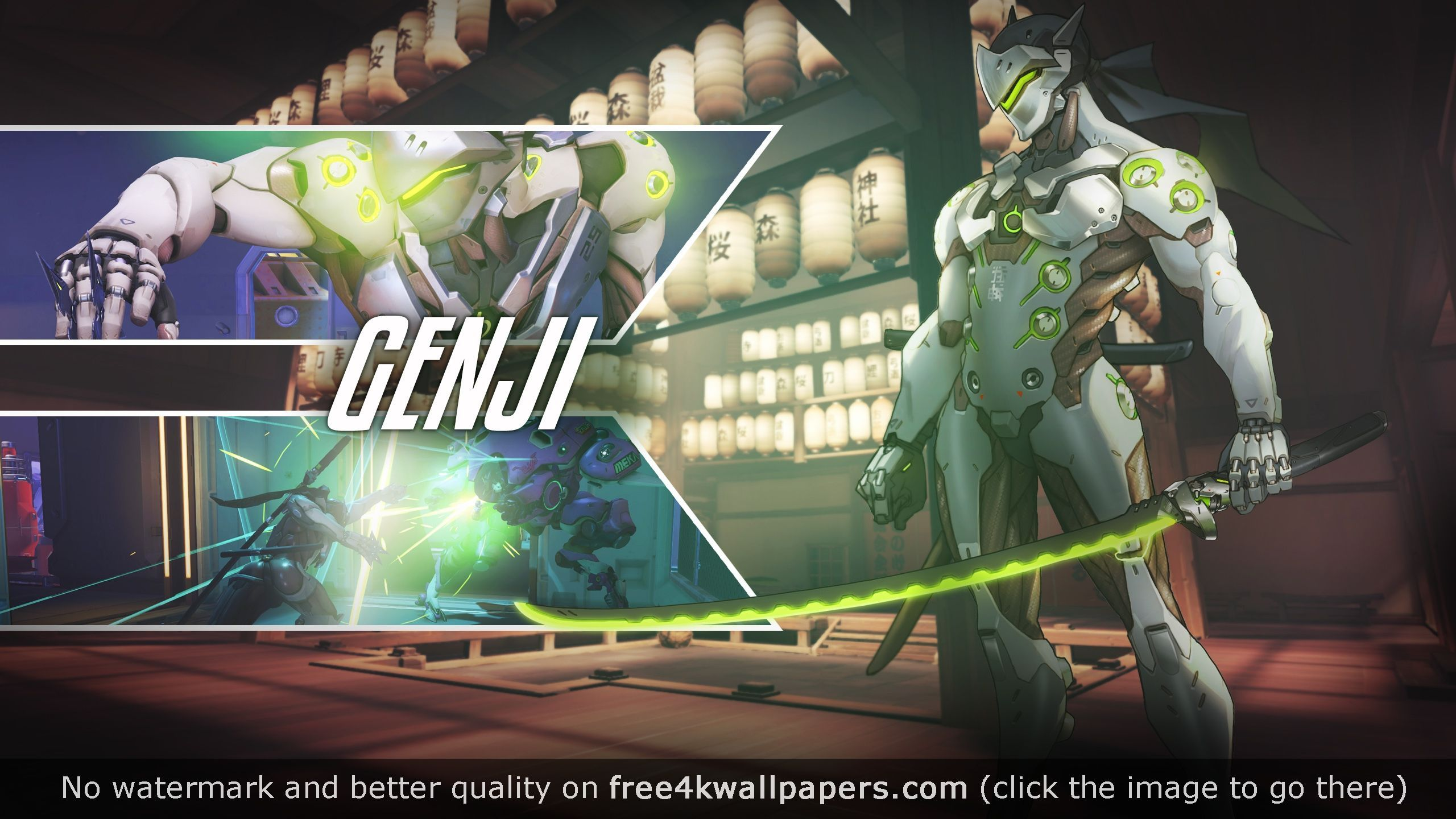 Genji Overwatch 4k Or Hd Wallpaper For Your Pc Mac Or Mobile Device