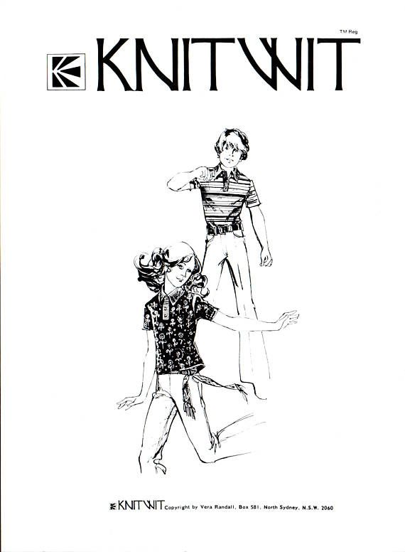 70s Knitwit 7150 Child\'s Long or Short Sleeve Knit Tops, Slacks and ...