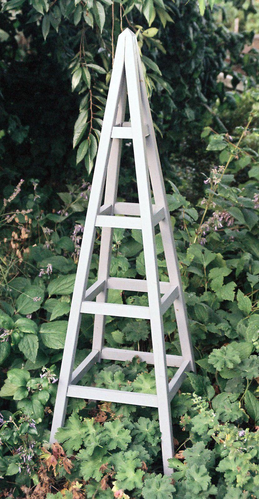 wooden obelisk Small garden obelisk, Wooden garden