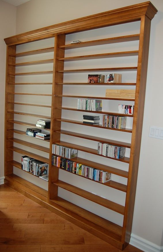 Custom DVD/CD Wall Shelf Unit *Shown In Brown Maple Wood *Available In  Custom Sizes For More Information On Having A Custom Piece Built, Please  Email