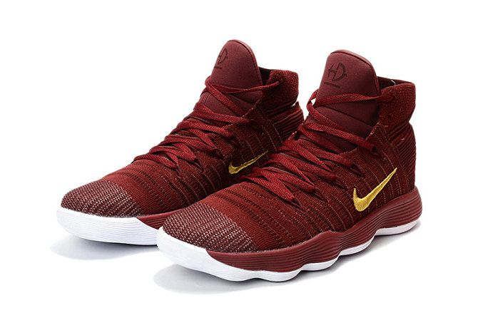 2a385eb5e3b3 2017-2018 Newest And Cheapest New Hyperdunk 2017 Flyknit React Cavs  Burgundy Wine Gold