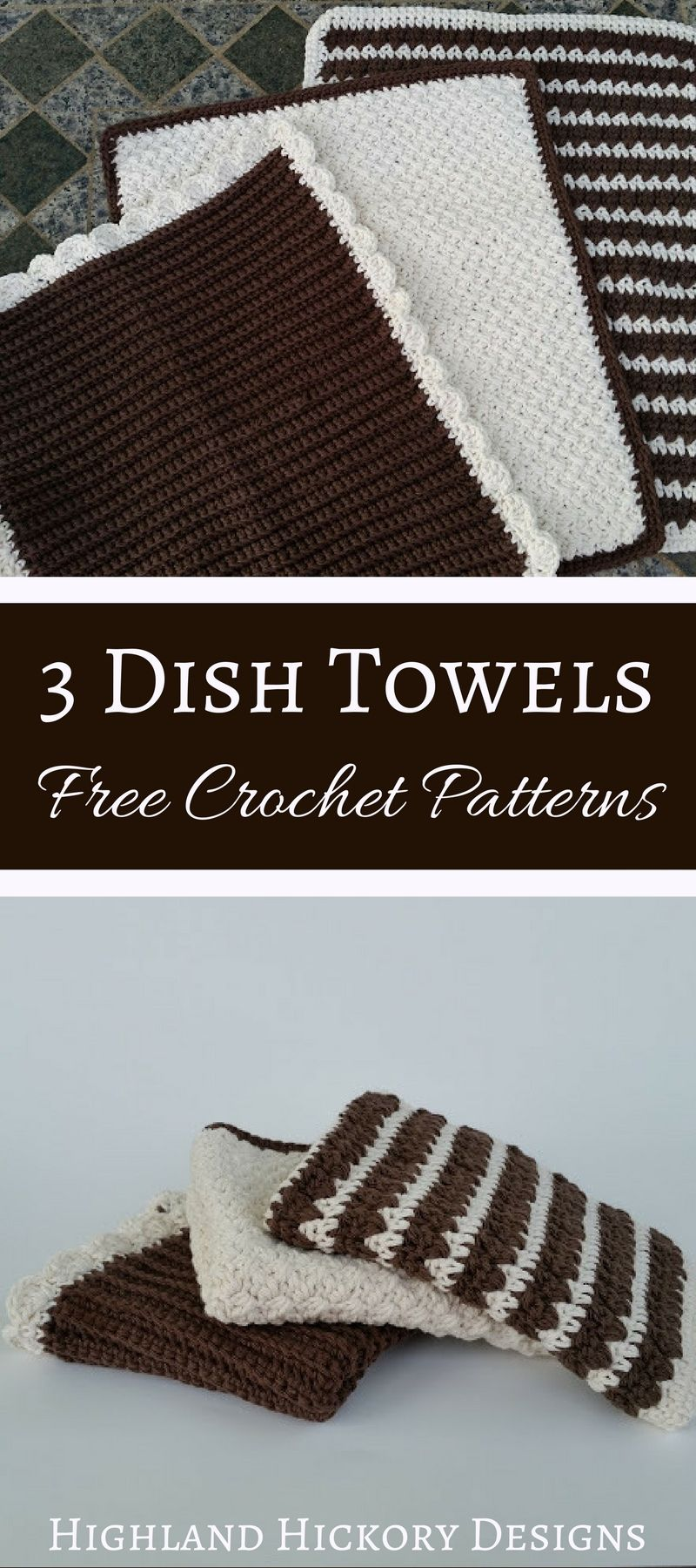 Dish Towels or Dish Mat - Free Crochet Pattern | Pinterest ...