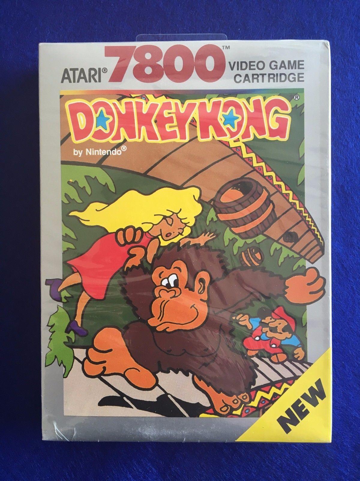 Atari 7800 Donkey Kong Cx7848 Brand New Factory Sealed Mint Ntsc