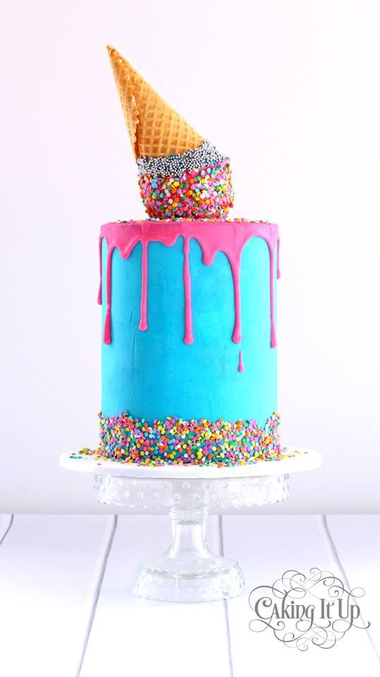 Beautiful Cake Pictures Melting Ice Cream Birthday Cake With