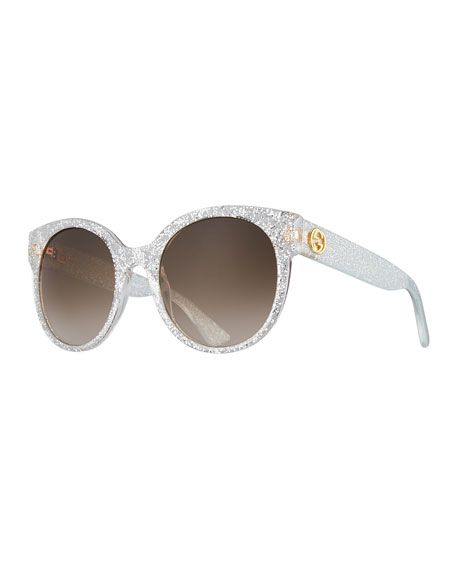 80f3fb17dee GUCCI Glittered Round Sunglasses