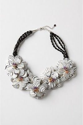 Pretty Little Things: Currently... Black and White Zebra Necklace