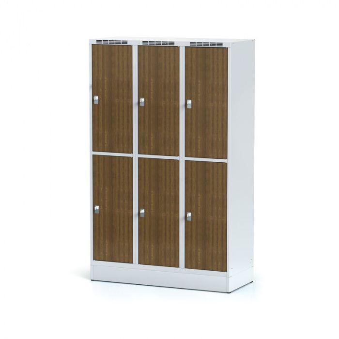 Wardrobe, 6 boxes 400 mm on the plinth, laminated door ořec …