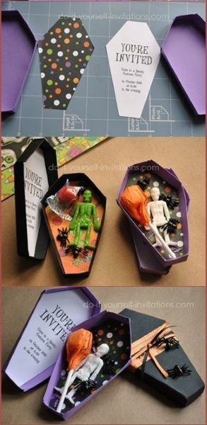 The perfect diy coffin invitations for a hotel for Diy hotel decor