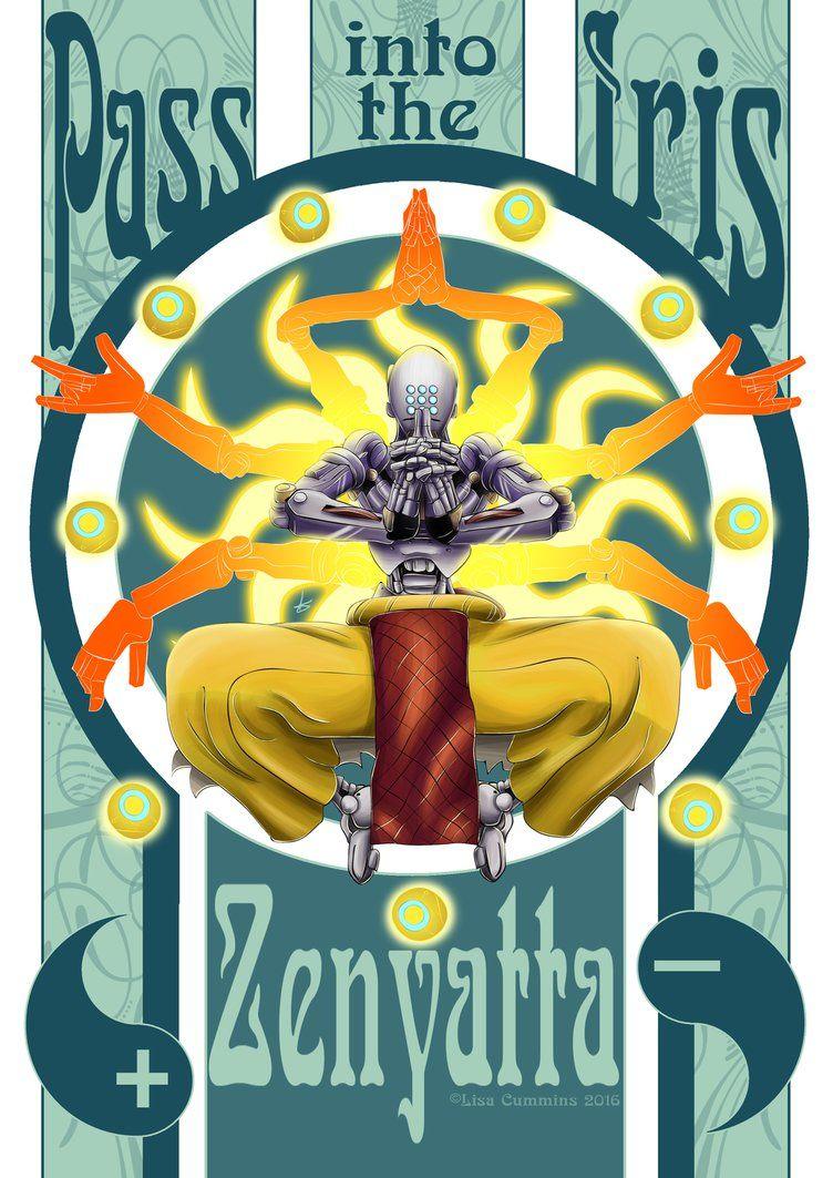 Pass Into The Iris Zenyatta Overwatch By Baggy666iantart