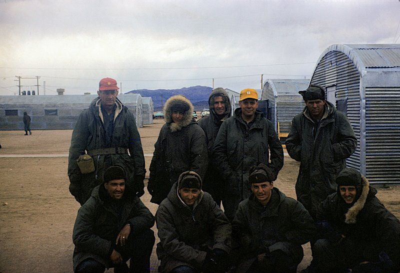 A group of Combat Survival School students at Stead AFB