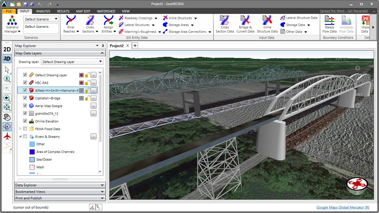 Pin by CivilGEO, Inc  on HEC-RAS | Bridge, Hudson river, Autocad