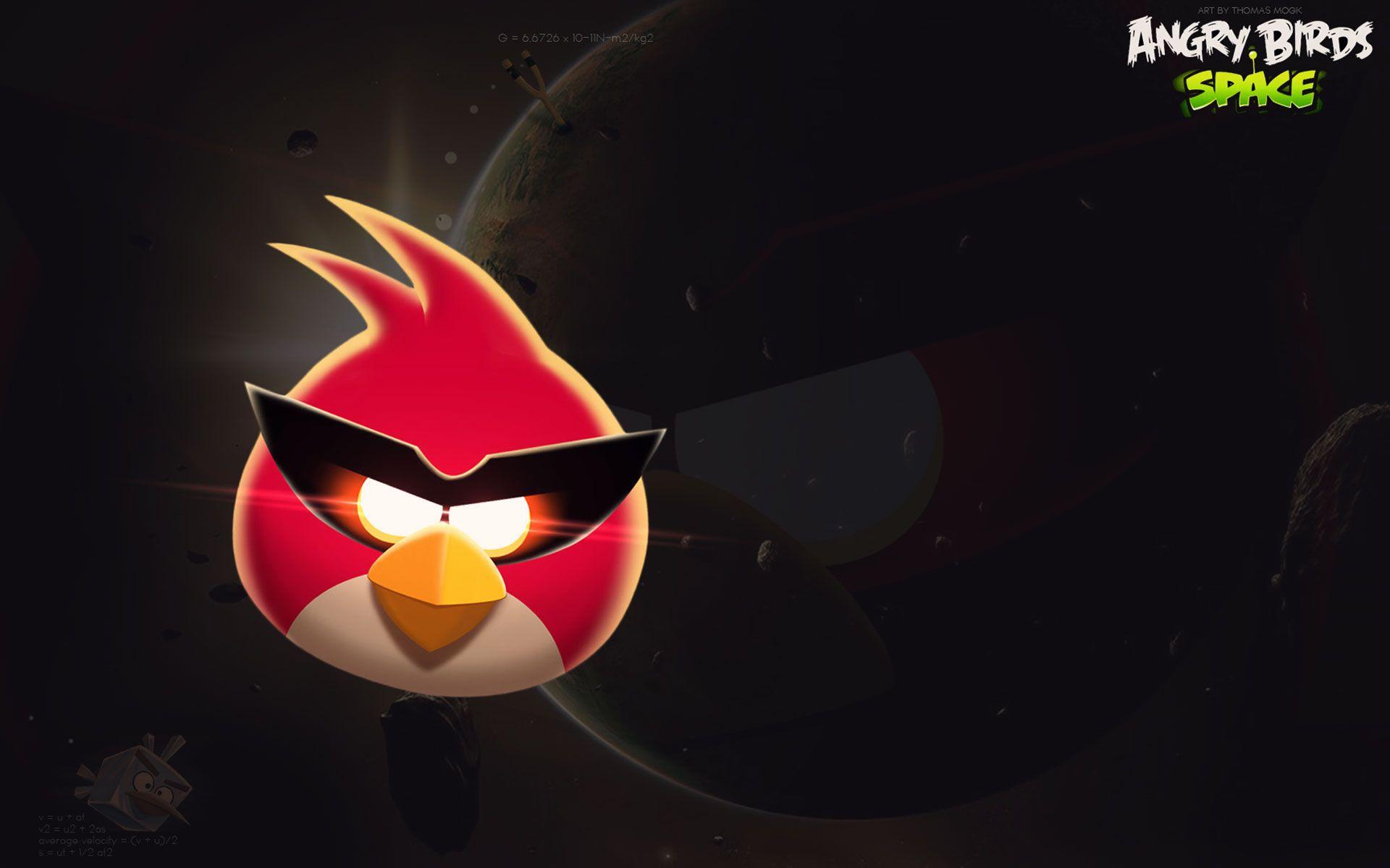Red Bird Space Wallpaper