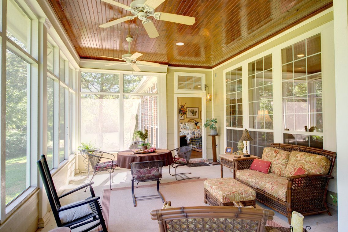 The expansive, enclosed patio provides a lovely space for ... on Closed Patio Design id=76945