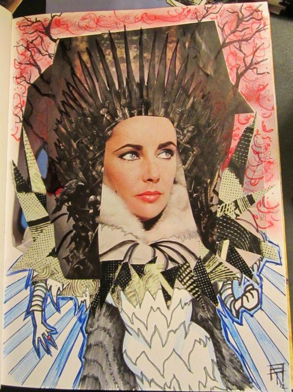 Liz Taylor - collage | Elizabeth Taylor | Ritratti