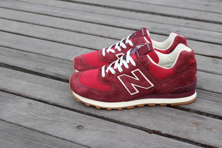 new balance 574 for men red