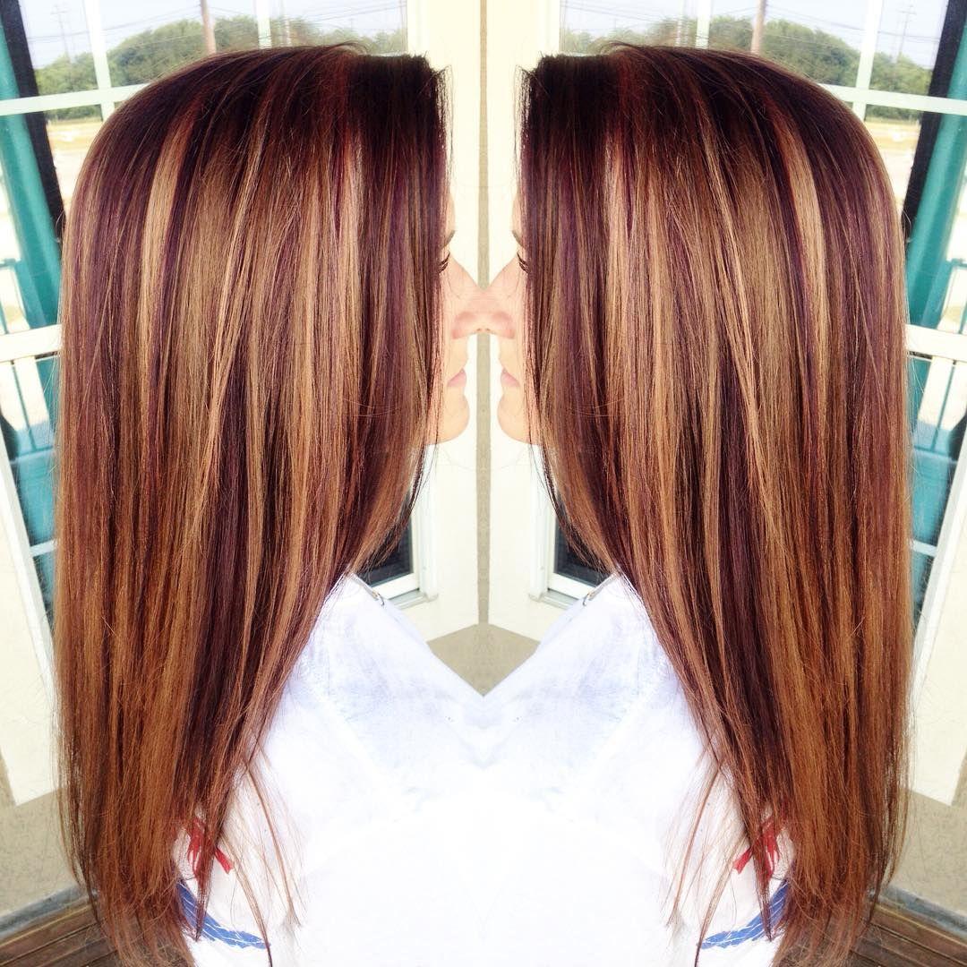 Caramel Auburn Lowlights For This Beauty Hairbyroxxaayyy Hair