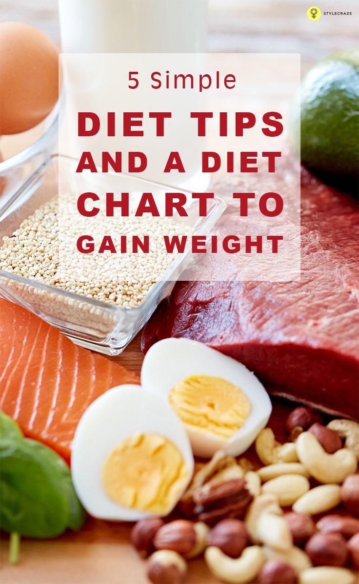 11 Simple Diet Tips And A Chart To Gain Weight