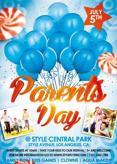 Parents Day V1 PSD Flyer Template Psd Pinterest Psd flyer - fun poster templates