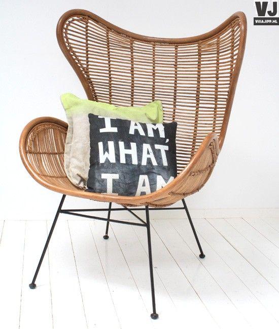 Egg Chair Rotan.Hk Living Rotan Stoel Egg Met Zwart Ijzeren Onderstel Rattan Egg