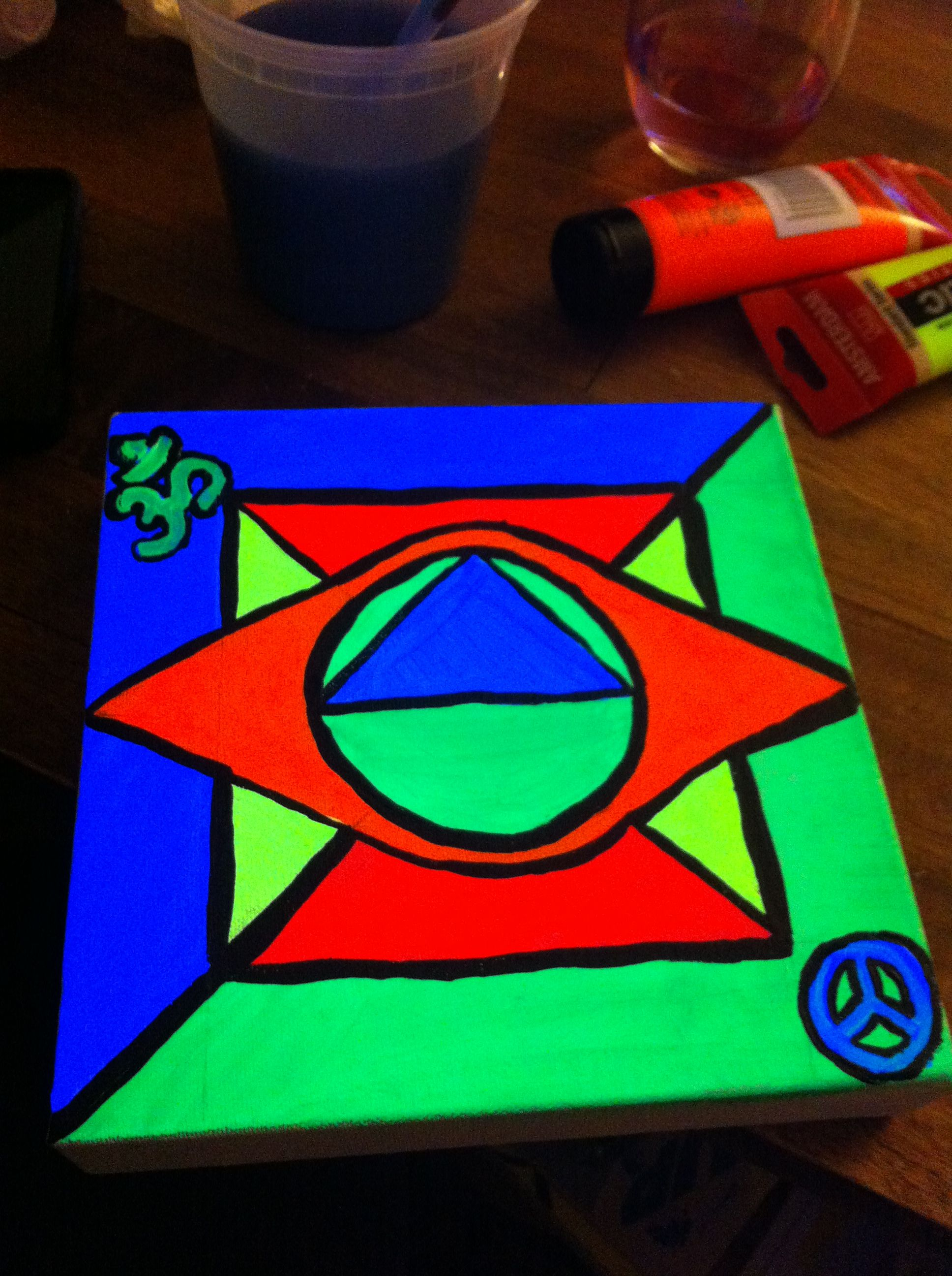 10x10 Girls Bedroom: 10x10 Canvas. Black Light Reactive. $20 Contact For More