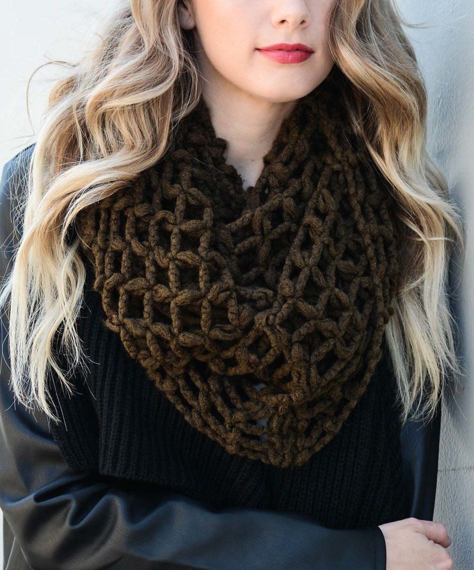 Leto Collection Olive Open Weave Knit Scarf | Knit scarf ...