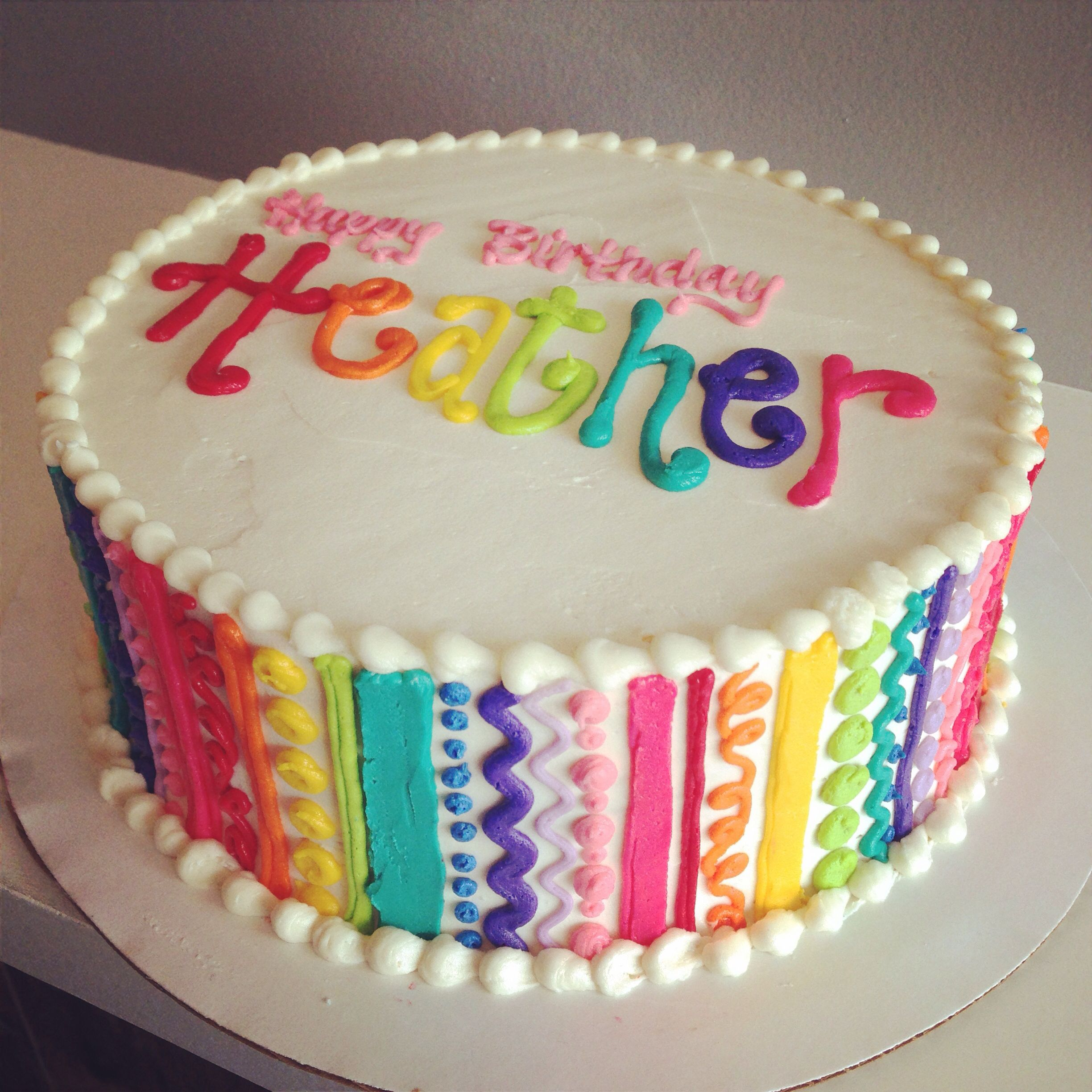 Squiggle Rainbow Cake By Hayleycakes And Cookies Austin