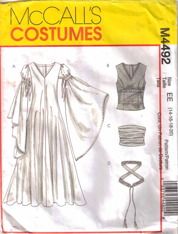 McCall\'s Costumes; M4492; Eowyn Dress; Bliaut | Costumes | Pinterest ...