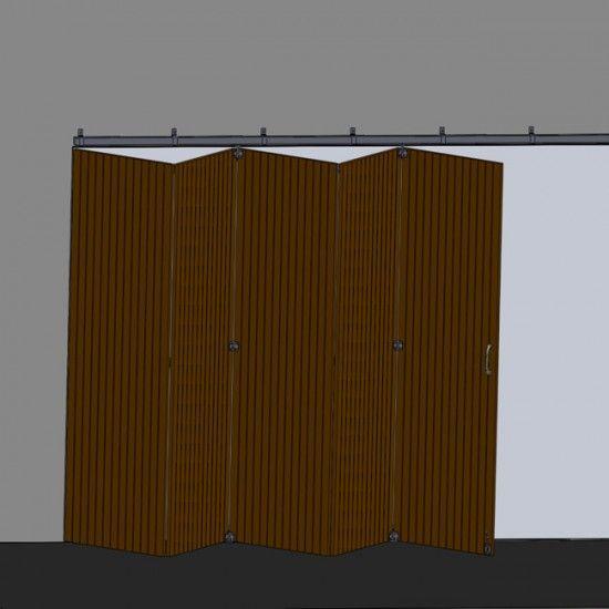 Herrajes puertas correderas plegabables solapadas - Puerta de acordeon ...