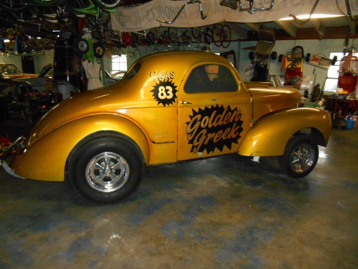 1940 willys coupe gasser from the 60 s the h a m b
