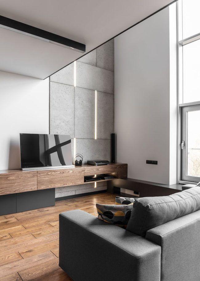 stilvolle-einrichtung-boyfriend-style-maenner-wohnzimmer- holz-beton